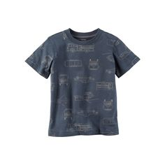 Toddler Boy Carter's Print Graphic Tee, Size: 4T, Blue