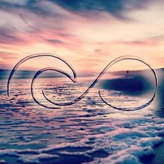 Infinity symbol with a wave incorporated, could look cool as art on a surfboard