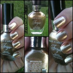 I decided to try the other Fergie polish I picked up recently from Wet n Wild. This is Grammy Gold and it's really similar to Going Platinu. New Nail Polish, Nail Polishes, Nail Polish Collection, Wet N Wild, Creative Nails, Nails Inspiration, Pretty Nails, Hair And Nails, Nail Colors