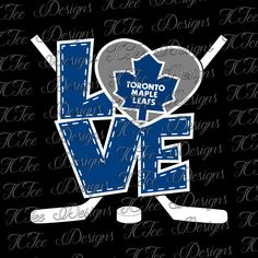 Love Maple Leafs - Toronto Maple Leafs - Hockey SVG File - Vector Design Download - Cut File by TCTeeDesigns on Etsy
