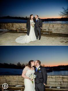 Powell Gardens | wedding | wedding photos | wedding photography | January wedding | snow wedding | snow | freelandphotography.com