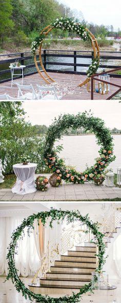 Hochzeitsbogen mal anders: Wedding Hoops Hochzeitsdeko, Hochzeit Blumenkranz, Hochzeit Reifen Deko, Hochzeitsdeko Reifen, Hochzeit Hula Hoop