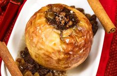 Nutty Baked Apples with Raisins  Recipe