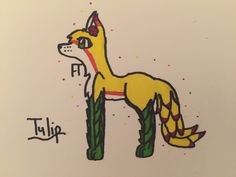Tulip, my new oc for @pusheen_the_cat's plant challenge :3 (by @EnderGamer88-April 9, 2016)