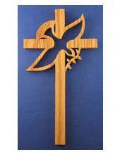 Dove Cross Cross Patterns, Scroll Saw Patterns, Christian Symbols, Small Wood Projects, Cross Art, Jesus On The Cross, Wood Crosses, Church Banners, Cross Crafts