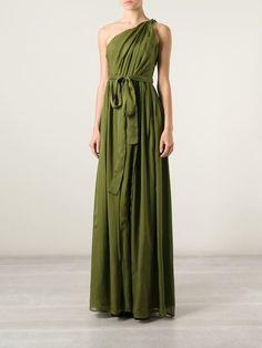 Msgm One Shoulder Evening Gown - Russo Capri - Farfetch.com