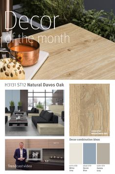 Decor of the month: For April, we're featuring one of our new woodgrain decors from the EGGER Decorative Collection 2017 – Natural Davos Oak. Pebble Grey, Davos, Wood Grain, Blue Grey, Natural, Kitchen, Furniture, Collection, Home Decor