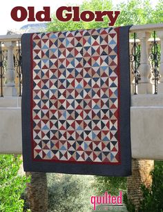 Moda Bake Shop: Old Glory Quilt   (Not my colors, but I really love the hour glass quilts...)