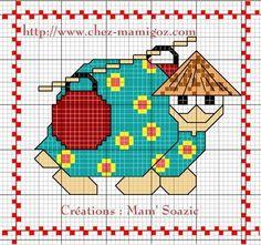 Plaid aux Tortues: Tortue Chinoise, porteuse d'eau