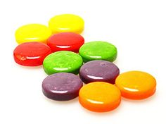 Spree candy.....I used to wipe the red ones on my lips to look like lipstick