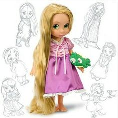 "Disney Princess Animators' Collection Toddler Doll 16"" H – Rapunzel with Plush Friend Pascal"