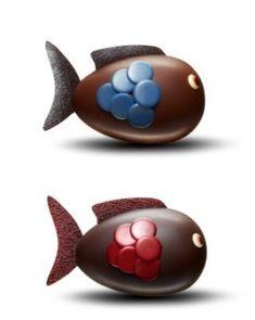 Poisson d'Avril Fauchon : 15 cm – 250 g (chocolat noir ou lait) – 36 €