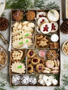 This is what I love at Christmas...a beautiful variety of DELICIOUS cookes
