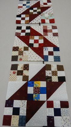 9-patch and HST - makes a great diagonal pattern - a barn raising type arrangement would be neat.