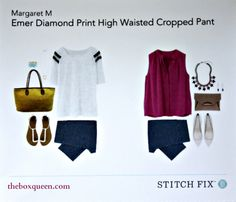 LOVED the Emer jacquard print high waisted cropped pant in my last fix and would love some more pants from Margaret M brand!