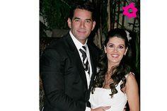 Eduardo Santamarina y Mayrín Villanueva en su boda por el civil en noviembre del 2009.