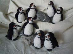 Wollfadengeschöpfe: Pinguine als Wollfadengeschöpfe