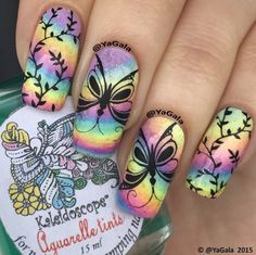 #Nails #Rainbownails #nailsart #Colourfulnails #springnails Love it