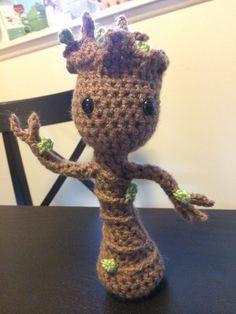 Crocheted Amigurumi Dancing Baby Groot  on Etsy :)