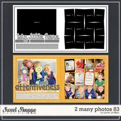 Sweet Shoppe Designs :: Templates & Tools :: Layout Templates :: 2 Many Photos 83 by Janet Phillips