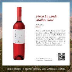Finca La Linda Rosé Malbec es un vino rosado con tintes violáceos, elaborado únicamente a partir de uvas de la variedad Malbec. Acompaña muy bien platos a base de pescados livianos y carnes blancas no muy contundentes.  #LuigiBosca #FincaLaLinda