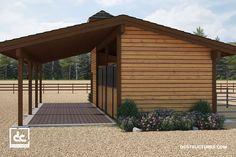 Pendleton Barn Kit – Shed Row Horse Barn Kit
