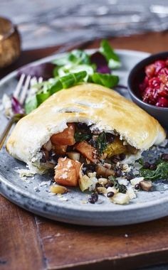 A vegetarian Christmas parcel you'll want to open! The cranberry sauce in this dish is incredible.