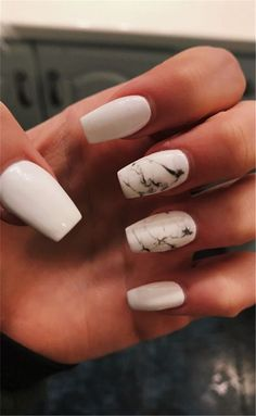 In seek out some nail designs and some ideas for your nails? Listed here is our listing of must-try coffin acrylic nails for trendy women. Simple Acrylic Nails, Summer Acrylic Nails, Best Acrylic Nails, Nail Swag, Marble Nail Designs, Nail Art Designs, Nails Design, Blog Designs, Water Nails