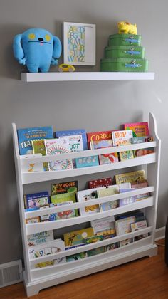 a different way to store children's books. so kids can more easily pick a book they want.