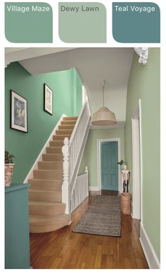 A narrow hallway might seem behind a curse, nevertheless it offers hence much potential for interior beauty and practicality. see these creative suggestions ideas diy hallway ideas ideas narrow ideas creative of hallway ideas Hallway Colour Schemes, Hallway Paint Colors, Paint Colors For Home, Dulux Paint Colours Teal, Hallway Ideas Entrance Narrow, Narrow Hallway Decorating, Entrance Hall, Hall Colour, Bedroom Decor