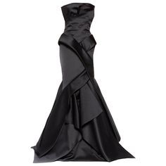 Rafae lCennamotalo americano designer de origem venesuelskogo - ❤ liked on Polyvore featuring dresses, gowns, vestidos, long dress, black, black evening gowns, black gown, black ball gown, long dresses and black dress
