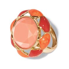 Goldtone cluster ring with faux stones in varying shades of peach. Regularly $19.99, buy Avon Jewelry online at http://eseagren.avonrepresentative.com