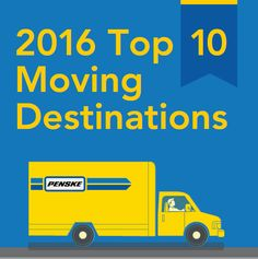 We're back with our Top 10 Moving Destinations list!  Penske Truck Rental 2016 Top Moving Destinations:  1    #Atlanta 2    #Dallas / #FortWorth 3    #Phoenix 4    #Denver 5    #Tampa / #Sarasota 6    #Orlando 7    #Seattle 8    #LasVegas 9    #Houston 10   #Charlotte  #Penske #PenskeTMD