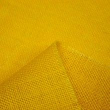 Tissu Toile de jute jaune unie
