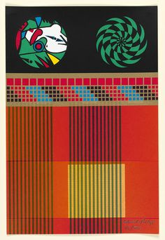 "Eduardo 'Sir' Paolozzi (b. 1924 - d. Scottish), inside the book: ""Moonstrips Empire News Vol. 100 Color Screenprints, Size: 38 x 25 cm. x inches), ~ © The Eduardo Paolozzi Foundation. Eduardo Paolozzi, Pop Art Movement, Twist And Shout, Pattern Images, Traditional Paintings, Global Art, Art Market, Cool Artwork, Painting Prints"
