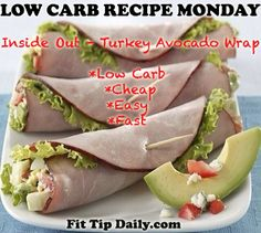 Low Carb Recipe Monday – Inside Out Avocado, Turkey Wrap