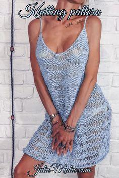 Crochet Beach Dress, Crochet Summer Dresses, Crochet Bikini, Knit Crochet, Knit Dress, Fishnet Dress, Sheer Dress, Knitting For Dummies, Boho Mini Dress