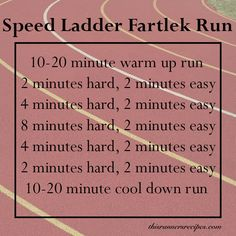 Speed Ladder Workout Fartlek