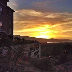 Campus at sunset #aggielife #cachevalleyutah
