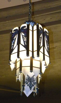 Sectional chandelier is just one of the extremely recommended type. Place reproduction chandelier in your house, probably could make the appearance of. Art Deco Chandelier, Art Deco Lighting, Chandelier Shades, Chandelier Ideas, Art House Movies, Arte Art Deco, Art Nouveau, Tiffany, At Home Movie Theater