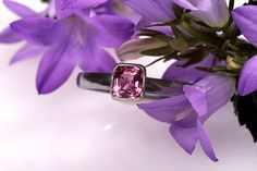 Pink Spinel Ring White gold and Spinel Engagement Ring by CaiSanni, €529.00