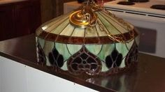 STAINED GLASS LIGHT FIXTURE(hangs 36 inches from ceiling ) Muskoka Ontario image 1