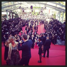 The 2013 Cannes Film Festival red carpet.