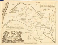 Map of the Cherokee nation, 1760 Cherokee Symbols, Cherokee History, Cherokee Tribe, Native American Cherokee, Native American History, Native American Indians, Cherokee Indians, Native Indian, Indian Artifacts