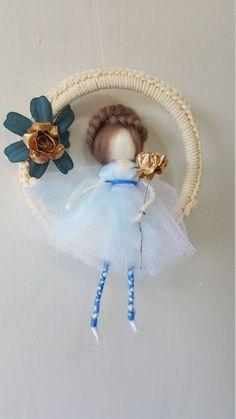 needle felted fairy,gold fairy,ballerina fairy,ballerina mobile,felted ballerina,wool fairy,mobile fairy,fairies,blue fairy,fantasy mobile