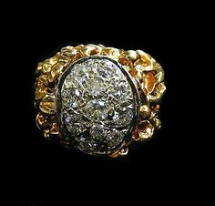 DIAMOND CLUSTER RING by HPSJEWELERS on Etsy