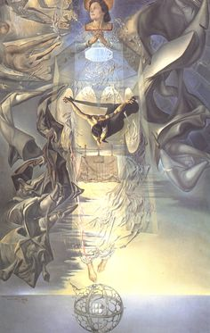 Assumpta Corpuscularia Lapislazulina by Salvador Dali, 1952. Oil on canvas