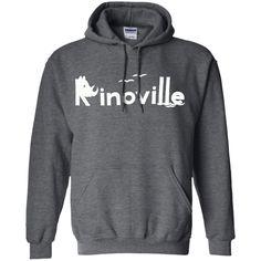 Rinoville White Logo Pullover Hoodie 8 oz
