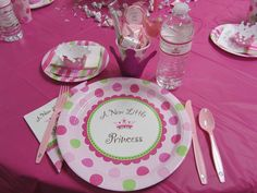 Jessica's Pink, Princess Baby Shower | CatchMyParty.com