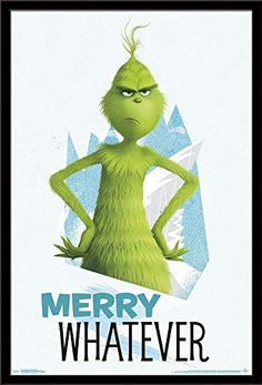 The Grinch Poster Merry Whatever Movie Large Wall Print - Weihnachten Lustig Der Grinch Film, The Grinch Movie, The Grinch Quotes, Grinch Party, Il Grinch, Grinch Pills, Christmas Quotes, Christmas Art, Xmas